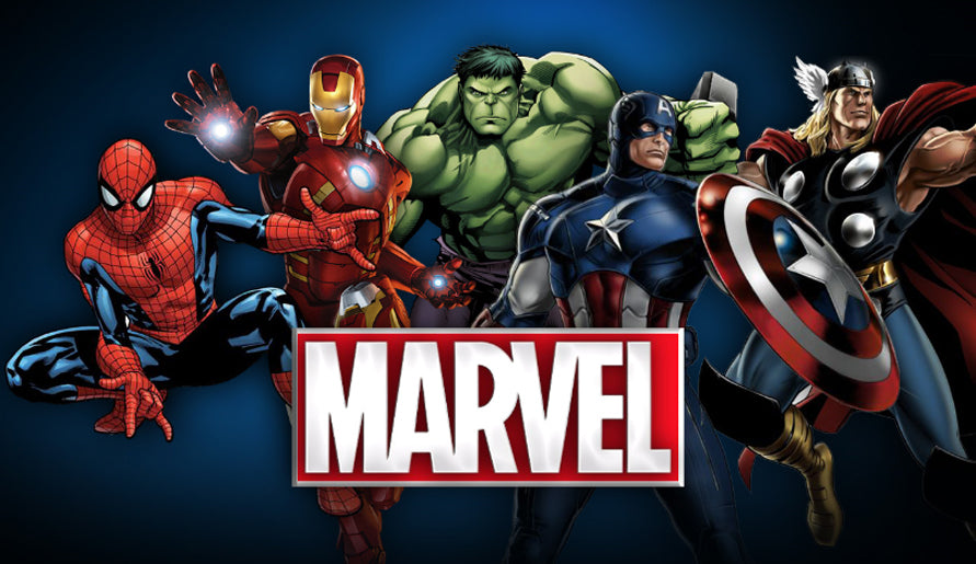 Marvel Superherous Spiderman Hulk Captain America Thor