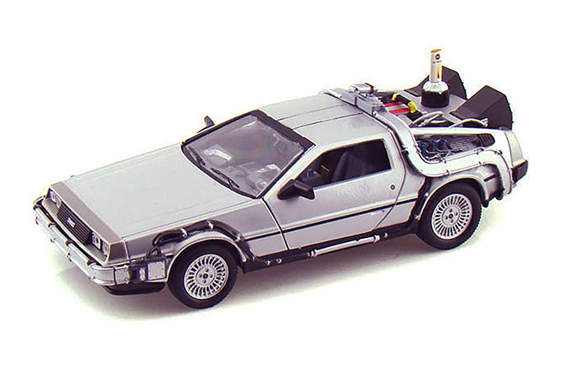 Welly - Back to the Future II DeLorean Time Machine - 1/24 Scale Diecast Model Car, Silver - 22441W