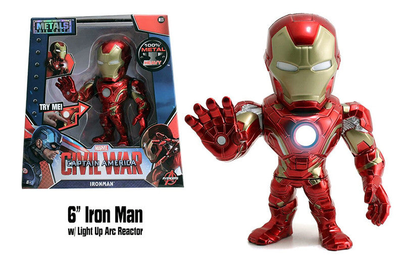 "Captain America: Civil War - Iron Man Figure - 6"" Diecast Model Toy - Red/Gold - Jada Toys"