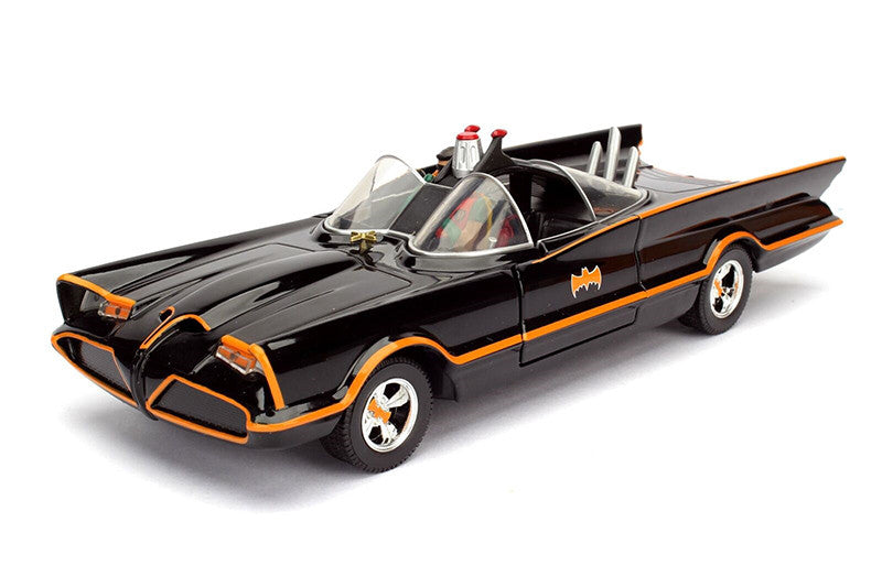 "Batmobile™ 1966 Classic TV Series with Batman™ & Robin Figures 1/24"" Scale Diecast Model Car - 98259"