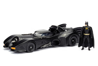 Batmobile™ 1989 Batmobile™ with Batman™ Figure - 1/24, Diecast Model Car, Black - 98260