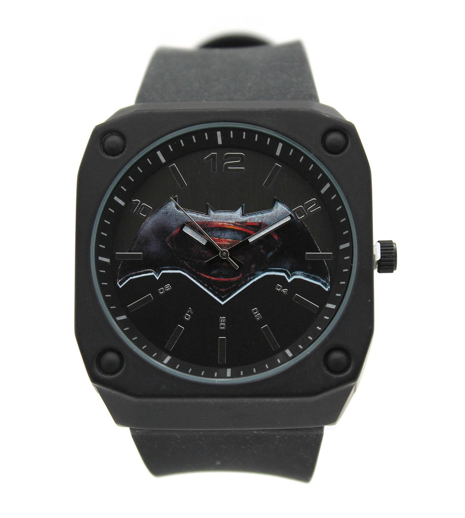 "Batman vs Superman ""Stealth Mode"" Exclusive Men's Watch DC Comics BVS9065"