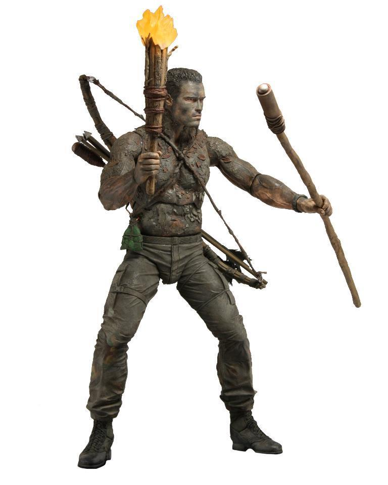 "Predator - 7"" Scale Action Figure - 30th Anniversary Jungle Disguise Dutch NECA 51555"