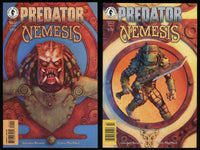 Predator Nemesis Comic set 1-2 Lot Dark Horse Bagged Boarded MacNeil art Aliens