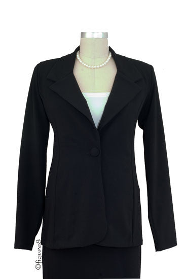Olian's Career Maternity Jacket- Black - Size Large