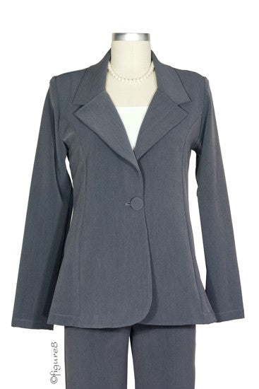 Olian's Career Maternity Jacket - Charcoal - L