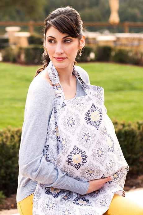 Bebe Au Lait Cotton Nursing Cover - Astoria - One Size