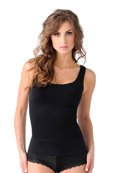 Mother Tucker™ Compression Scoop Neck Tank - Black - L