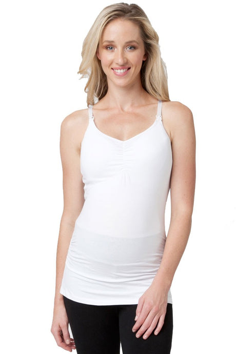 Ripe Ultimate Express Padded Nursing Tank - White - XS