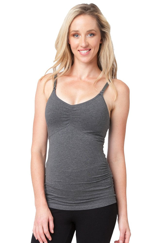 Ripe Ultimate Express Nursing Tank - Dark Charcoal Marle - XL