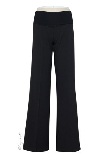 Straight-Leg U/O Career Maternity Pant - Black - Size XL