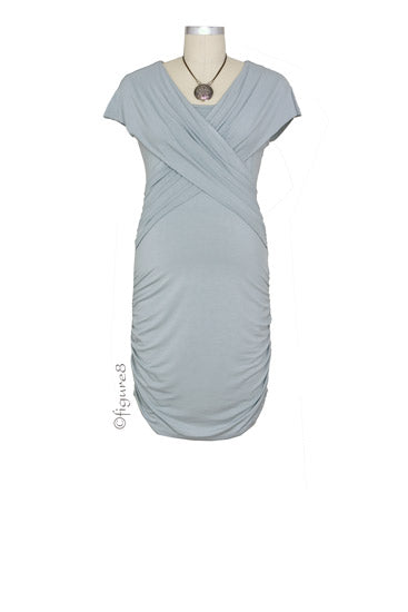 Manhattan Mini Nursing Dress - Dove Grey - M