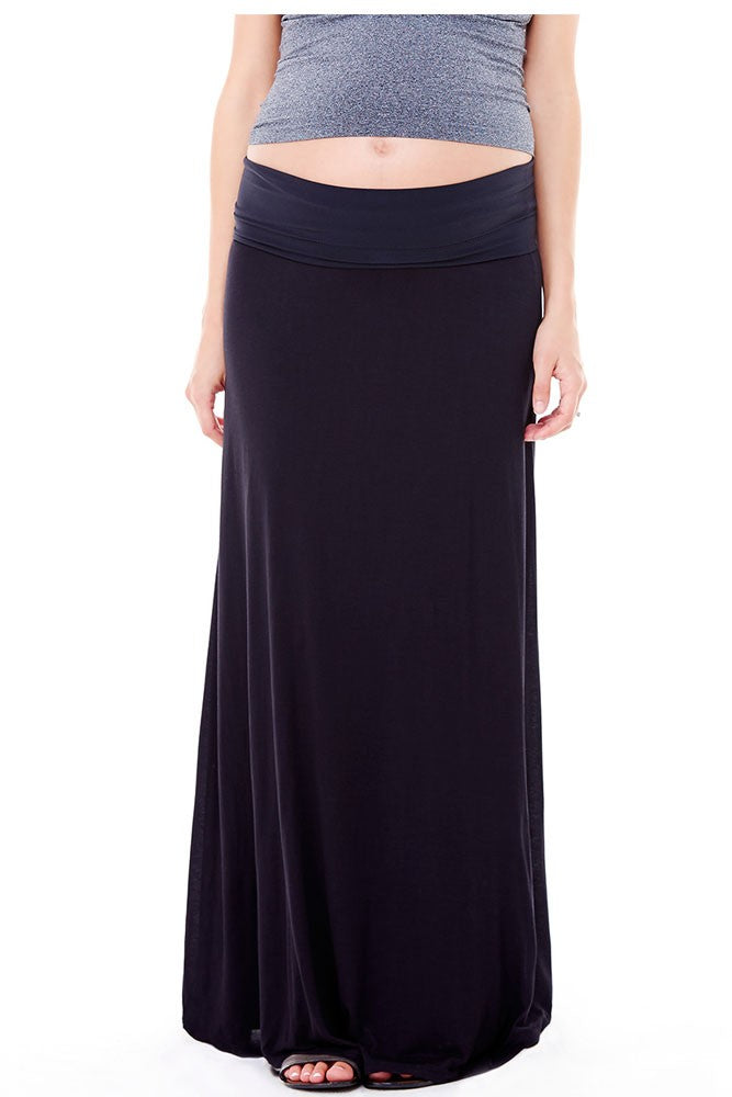 Ingrid & Isabel Flowy Maxi Skirt - Black - XS