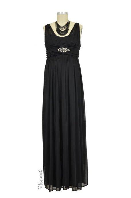 Leona Maternity Gown - Black - S