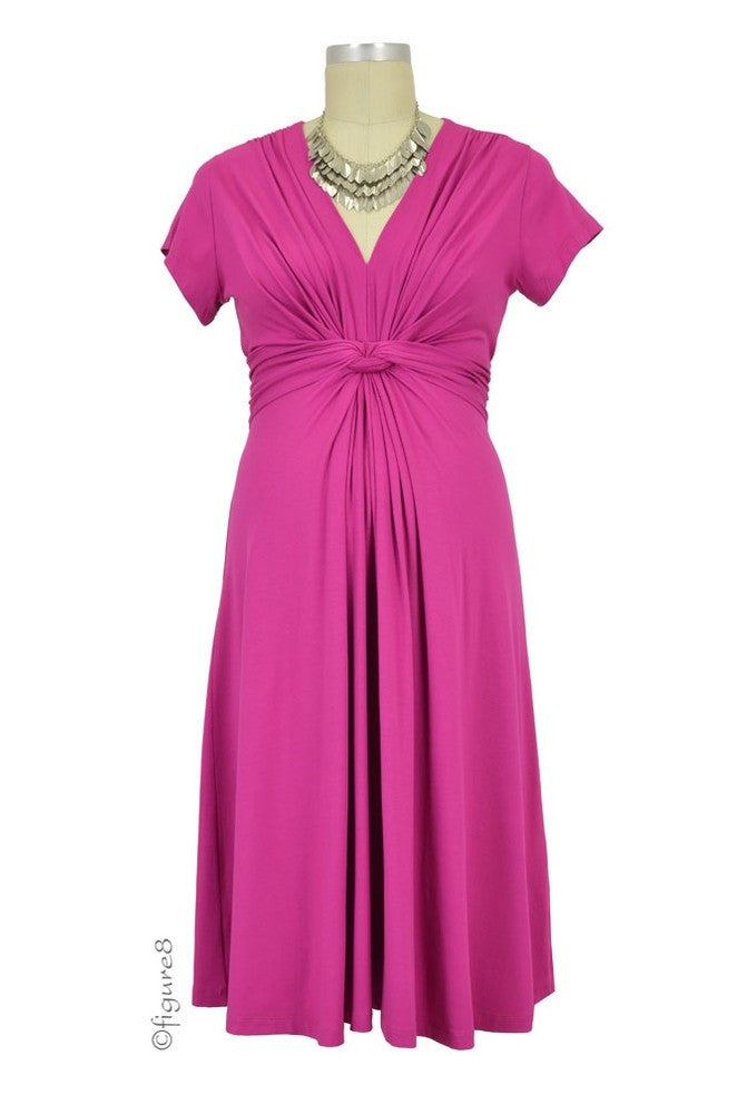 Seraphine Jolene Short Sleeve Maternity Dress - Fuschia - Size US 6