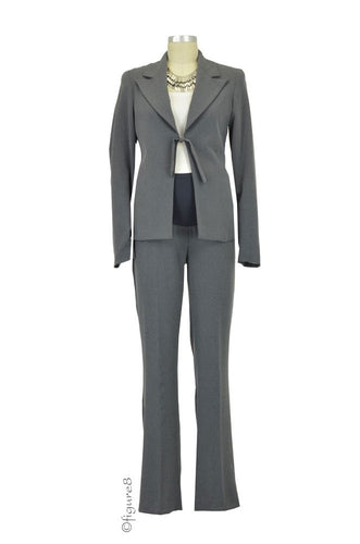 Jules & Jim Kate 2-pc. Maternity Pant Suit - Dark Melange - L