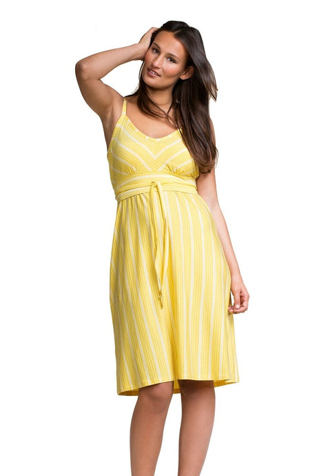 Boob Kajsa Nursing Dress - Sunny Yellow Stripes - M