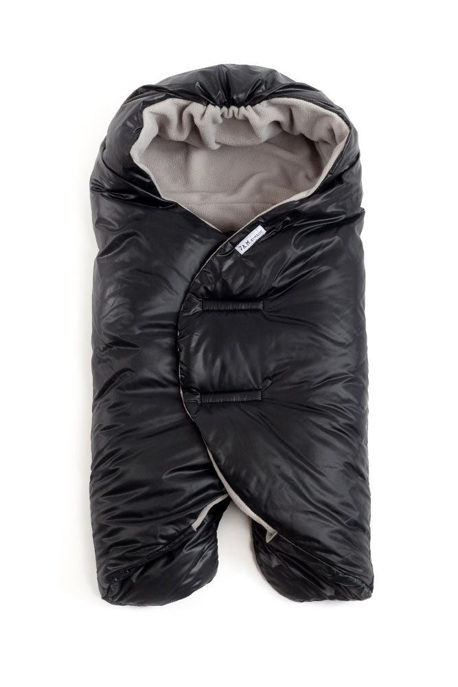 7 A.M. Enfant Nido Quilted Car-seat Baby Wrap - Small - Black - S