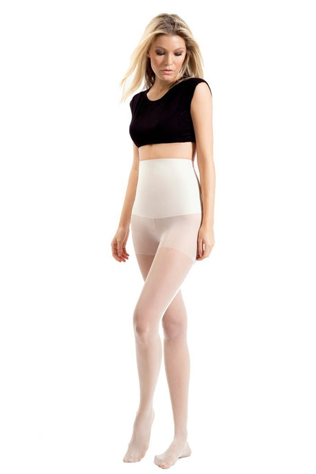 Blanqi High Waist Support Band Pantyhose, Ultra Sheer - Nude - S