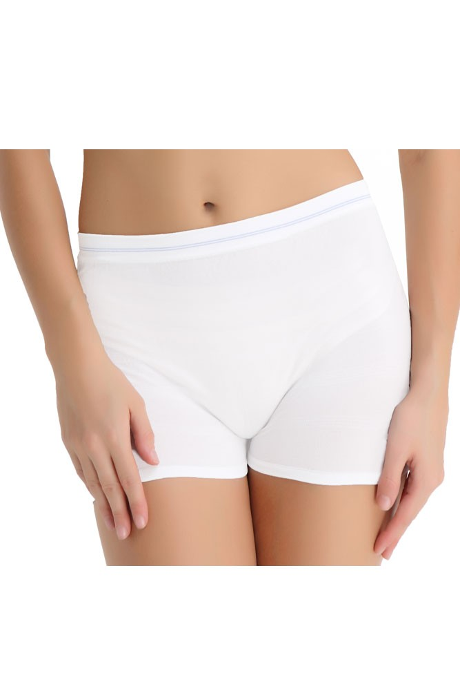 Molly High Waist Seamless Mesh Disposable Delivery Panty (3 pk.) - White- 3-pack - S/M