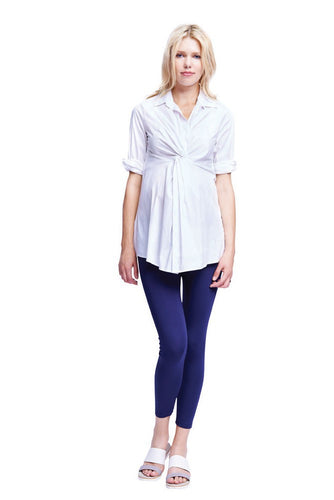 Gianna Front Twist Tunic Blouse - White - L