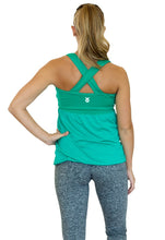 Flourish Maternity Workout Tank with Mumband Support - Emerald - S