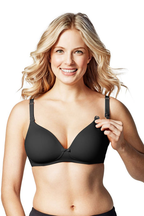 Bravado! Designs Buttercup Wireless Maternity & Nursing T-Shirt Bra - Black - 34H