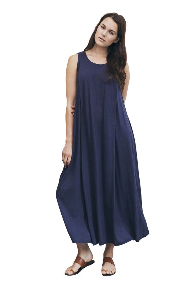 Boob Design Air Long Organic Maternity & Nursing Dress - Soft Ink - L