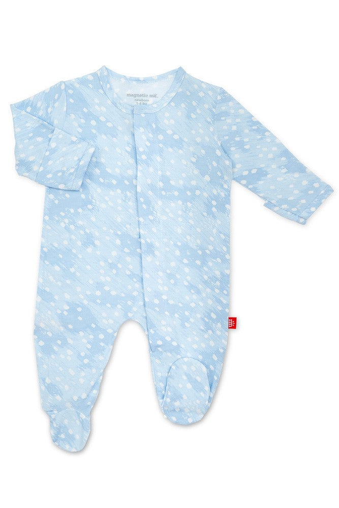 Magnetic Me™ Modal Magnetic Baby Footie - Blue Doeskin - 3-6M (12-16 lb)