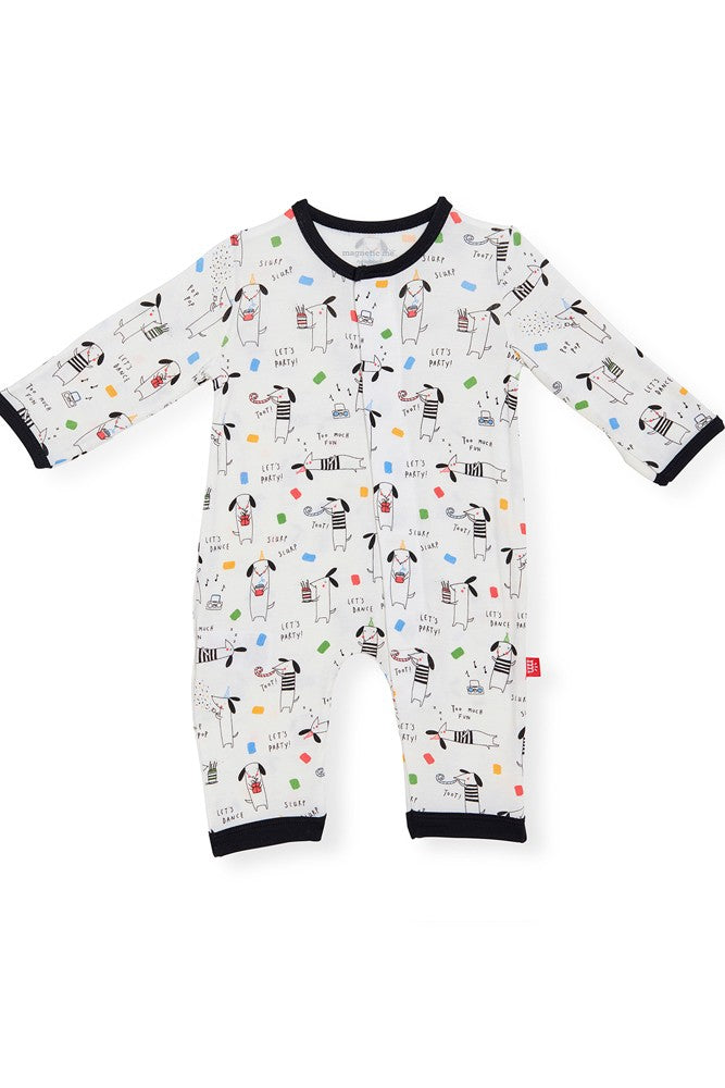 Magnetic Me™ Modal Magnetic Baby Coveralls - Raise the Woof - 9-12M (9-22 lbs.)