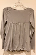 Britney Bubble Long Sleeve Nursing Top - Taupe Grey - S