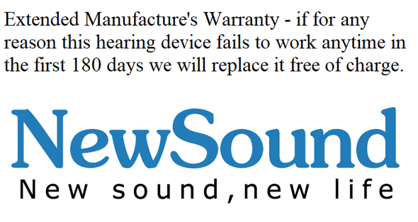 NewSound 180 Day Extended Guarantee - Digital Hearing Aid