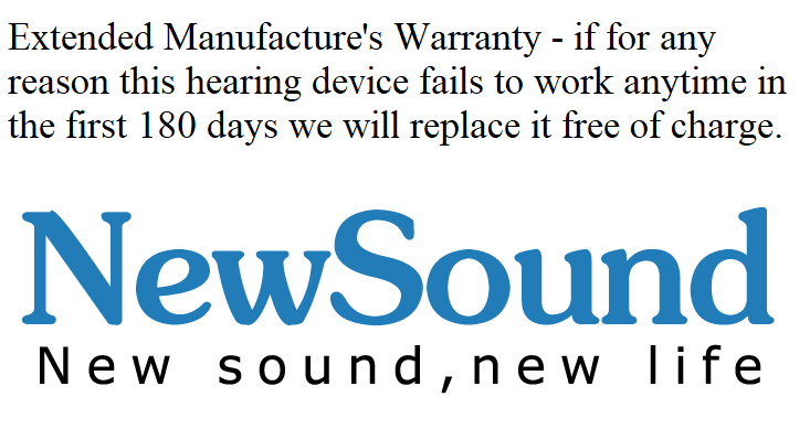 NewSound 180 Day Extended Guarantee