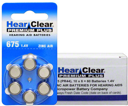 675 Hearing Aid Replacement Batteries