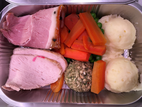 Roast Turkey and Ham Dinner