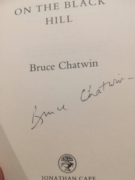 Bruce Chatwin signed first edition book 'On The Black Hill'