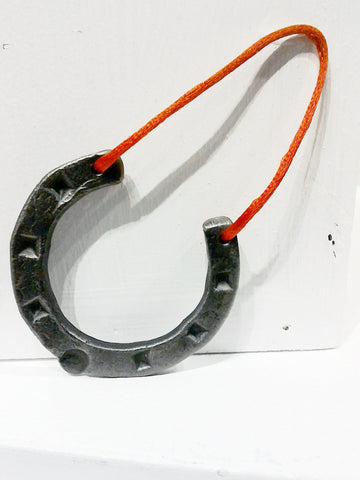 Small handforged lucky horseshoe