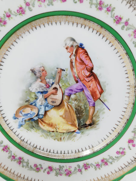Carl Tielsch  plates - courting couple. Lute design.
