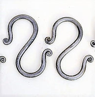 hand forged mild steel S hooks