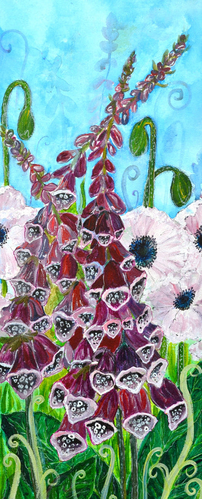 card (A5) foxgloves