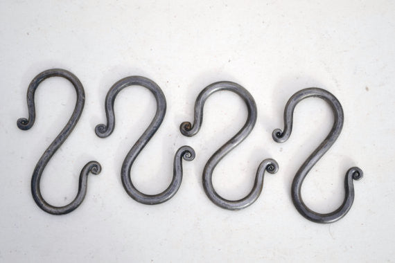 hand forged S hooks
