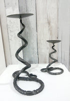 hand forged mild steel candle stick