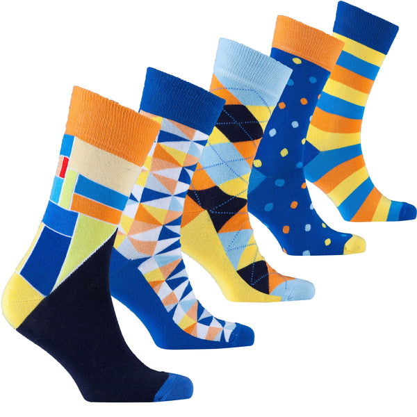 Men's Funky Mix Set Socks - 5-pack