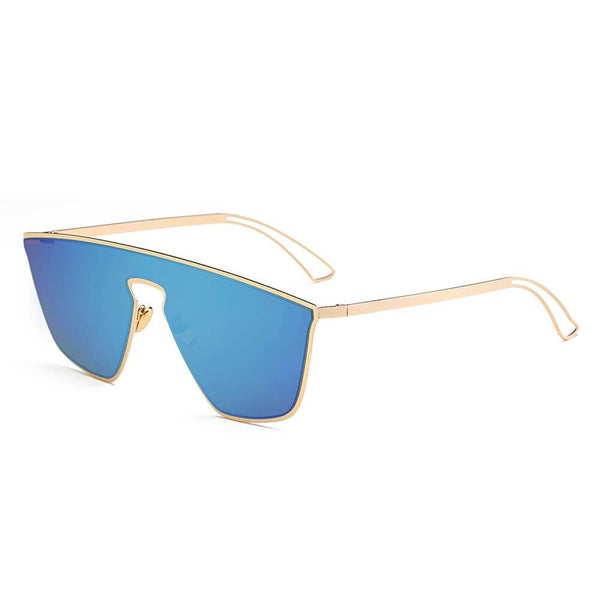 BEVERLY - Women Square Futuristic Flat Lens Sunglasses