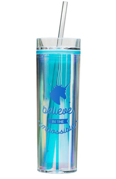 Holographic Unicorn Tumbler - Blue Believe