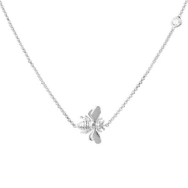 Queen Bee Silver Necklace