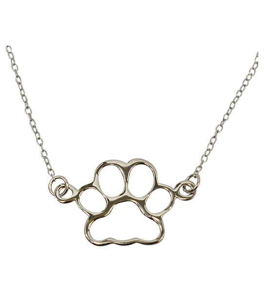 Sterling Silver Delicate Necklace - Paw