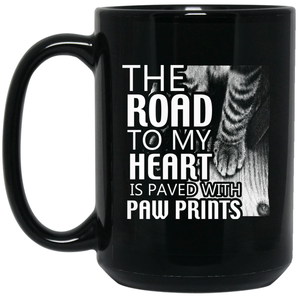 """Road to My Heart"" 15 oz. Black Mug"