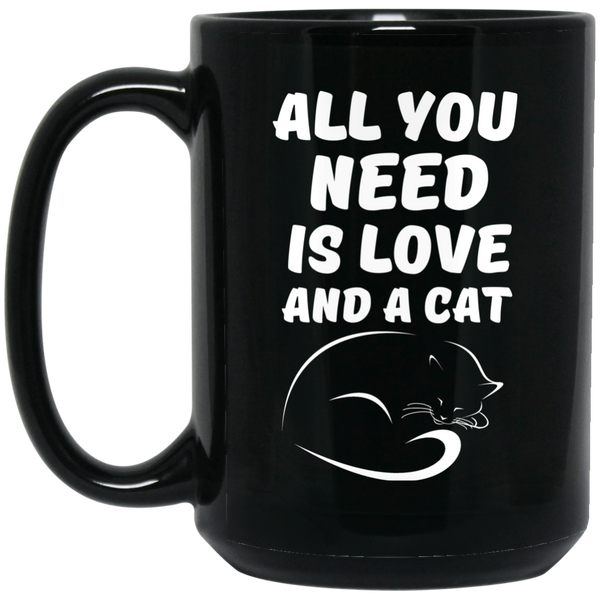 """All You Need Is Love"" 15 oz. Black Mug"