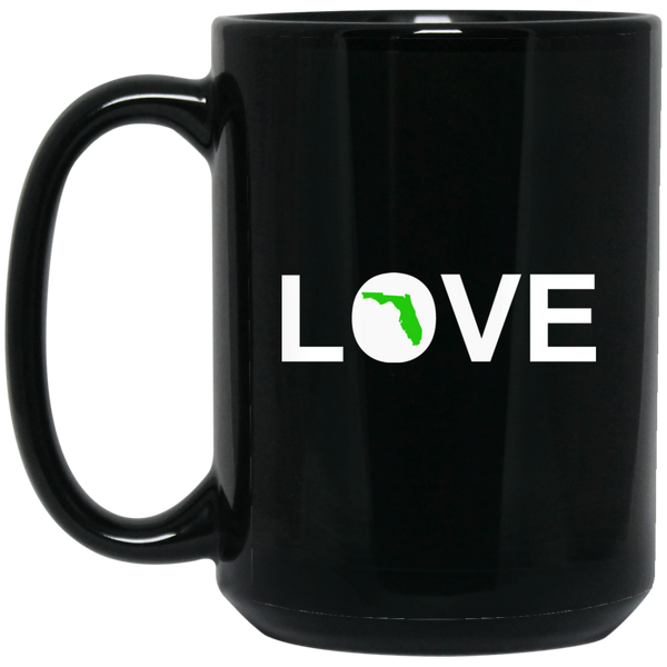 """Love Florida"" 15 oz. Black Mug"